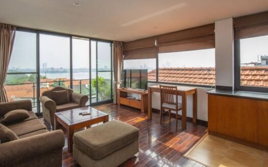 top floor lake view apartment on xom chua 3