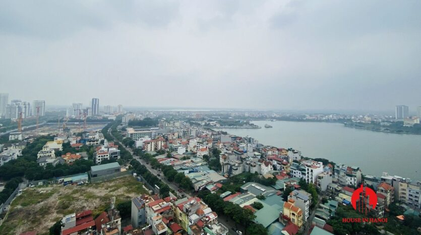 new lake view 2 bedroom apartment for rent on lac long quan 7
